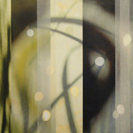Jane Guthridge - The Space Between 16; Encaustic on translucent asian papers; 2012