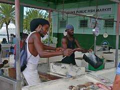 Selling fish in St John