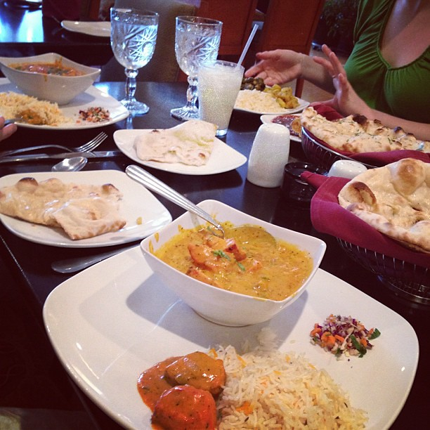 New Indian restaurant love. #yum