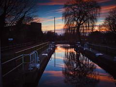 Hertford Canal Lock Sunset