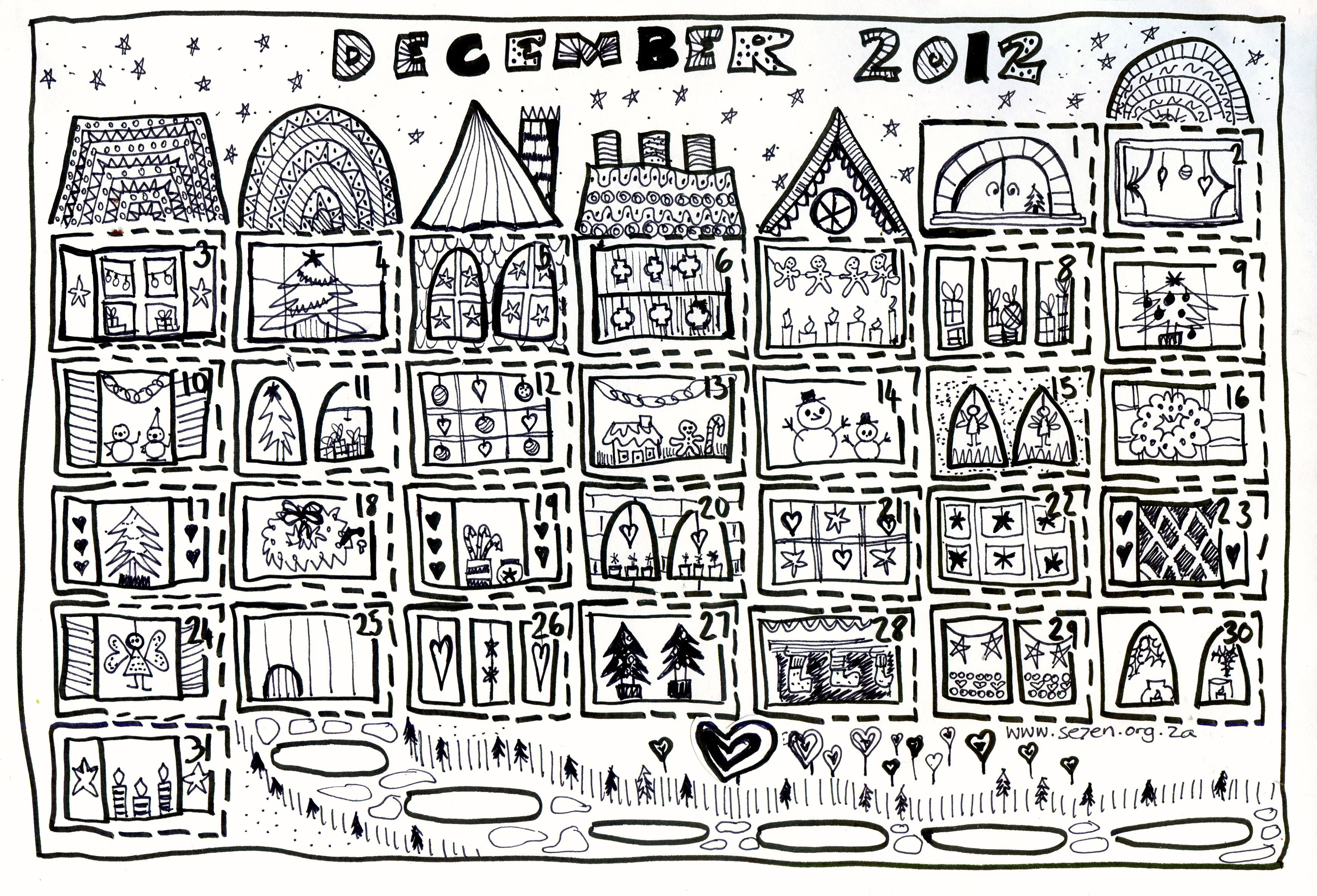 advent calendar coloring pages - Forte.euforic.co