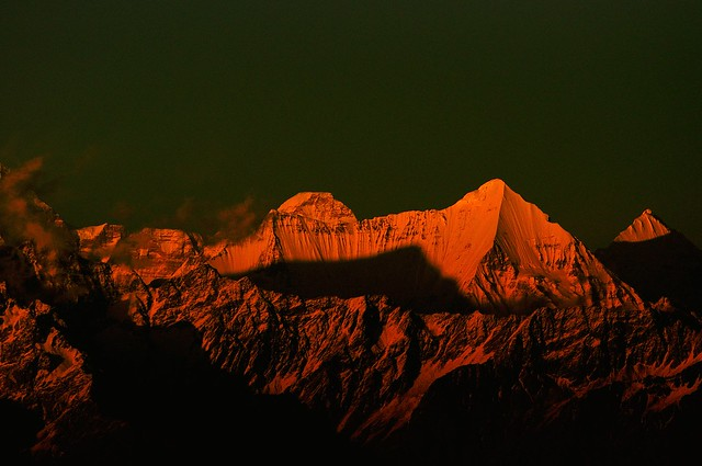 Sunset over Nanda Devi - A view from Kausani ( 6200 ft )