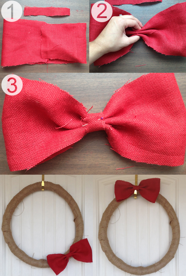 DIY Burlap Wreath with Bow