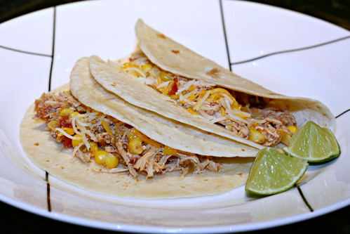 Crockpot Lime Chicken Tacos