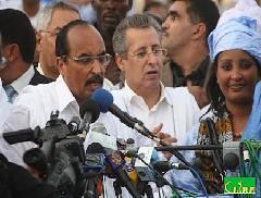 (Archives. Bouamattou et ould Badel aziz le 28/11/2009. Crédit photo : Cridem)