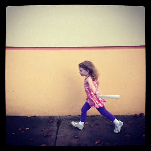 """Run like the wind, True Princess! We can't stop til the day is done!"" #mydaughter #ilovemyfamily #yesmydaughteriswearingatanktopin46degreeweather #donthate"