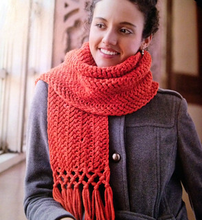 Knotty Herringbone Scarf