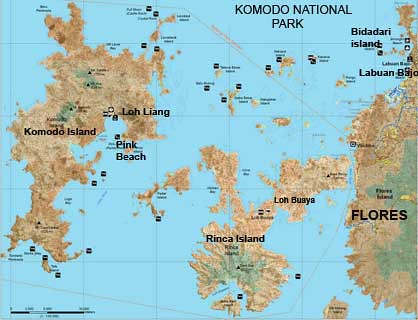 Komodonationalpark-Map
