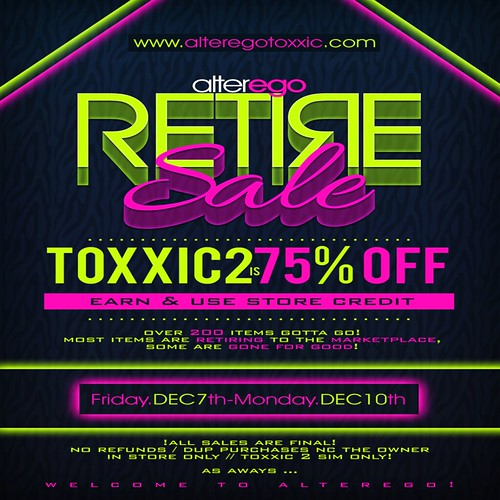 {alterego} Retire Sale
