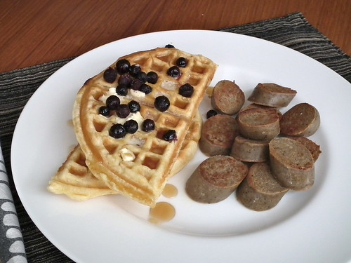 waffles and tofurky sausages