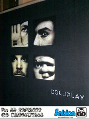 Sablon Kaos Coldplay 1