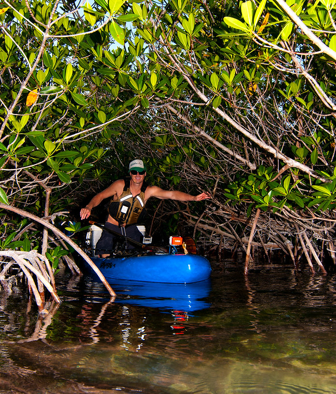 Drew Gregory in the FL Keys Mangroves on the Jackson Kayak SUPerFISHal