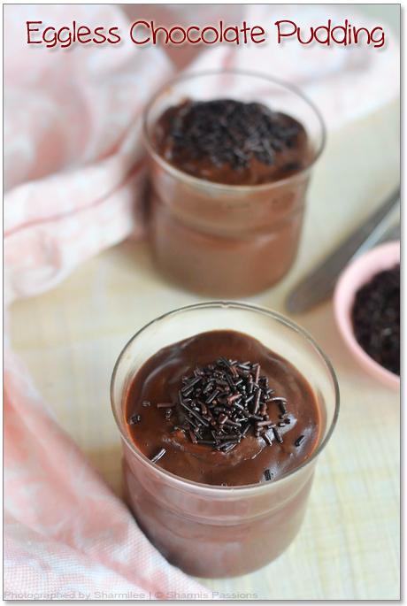 Eggless Chocolate Pudding Recipe