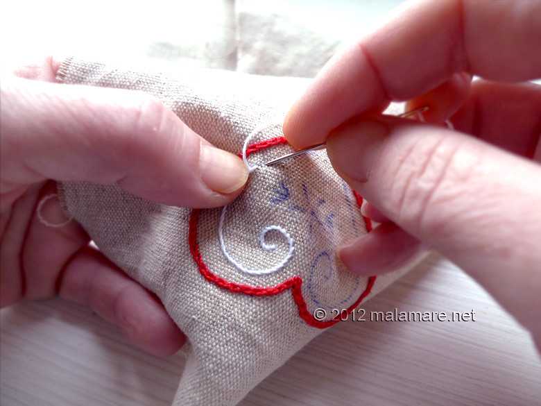 Heart embroidery pattern hand embroidery