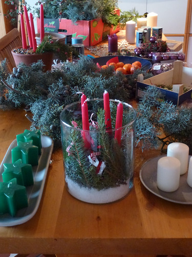 Making Christmas Candle Decortaions