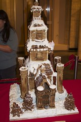 gingerbread house, cake, food, cake decorating, icing,