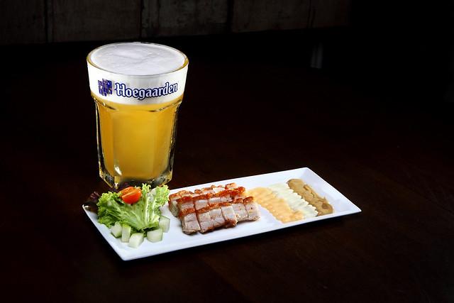 Roast Pork + Hoegaaden