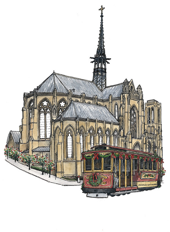 Grace Cathedral (part colour)