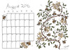 August calendar - coloured