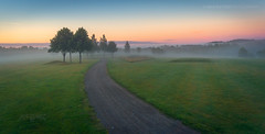 Askim, Norway 0273 - Misty Landscape with Road to Sunset