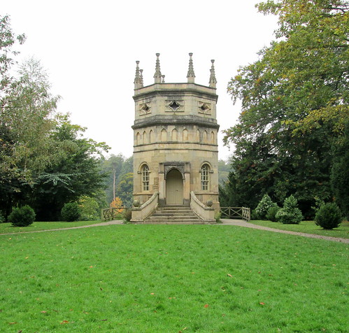an octagonal tower