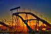Sunset-at-Amusement-Park-in-Old-Orchard-Beach-Maine by Captain Kimo