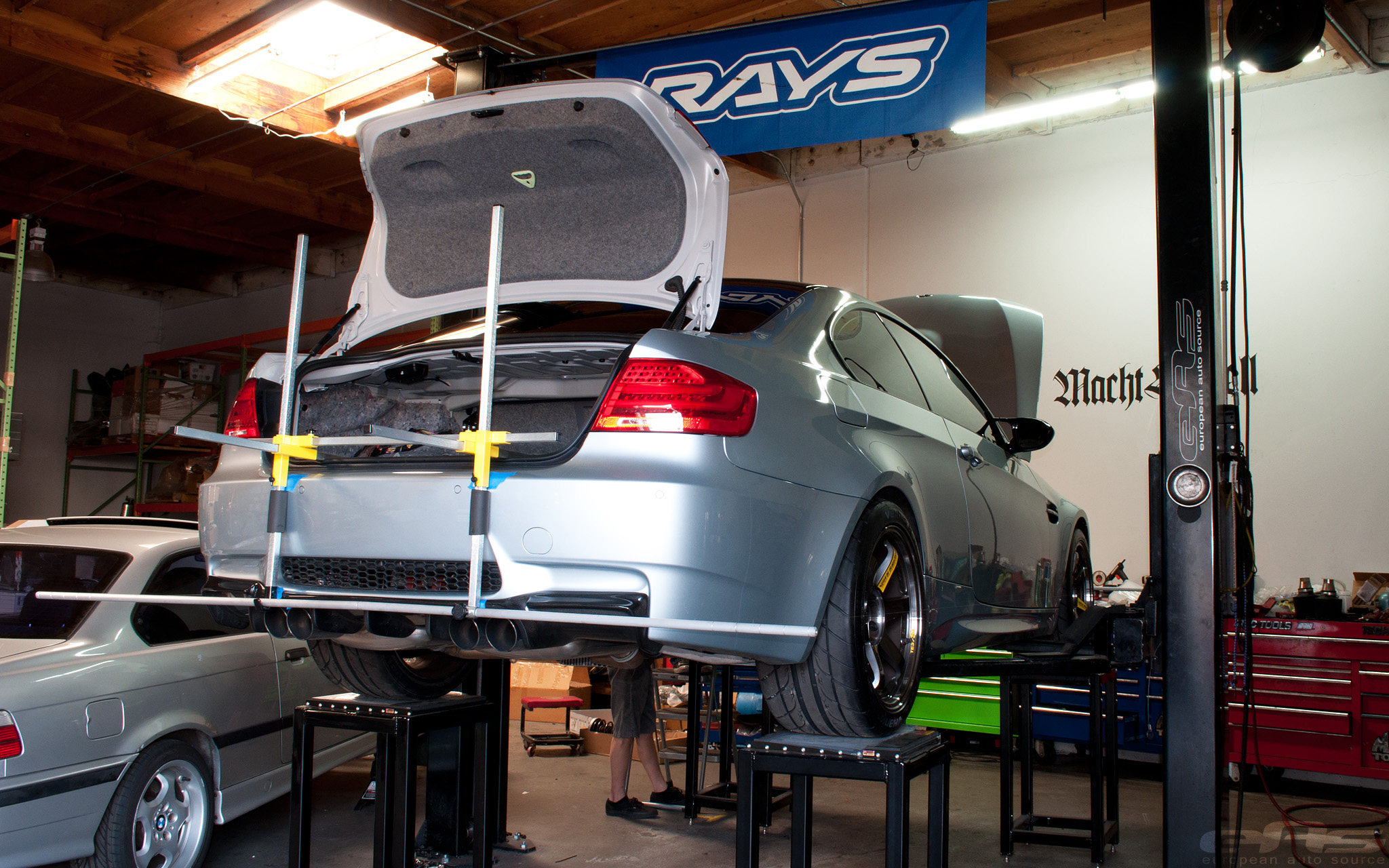Silverstone BMW E92 M3 with KW Clubsport Coilover Suspension by eas