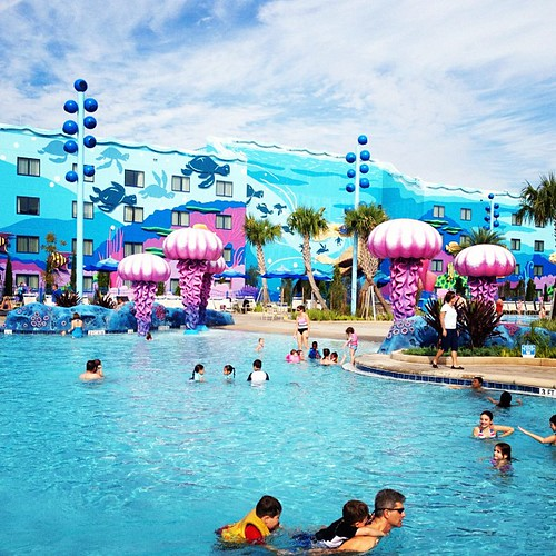 Sittin' pool side at Disney's Art of Animation Resort. #vacation