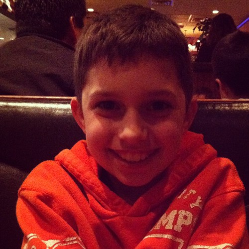 Pretty sure I'm at dinner with the most handsome 10 year old in all the land. @aidan1scool