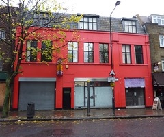 Red shop, to let by Julie70