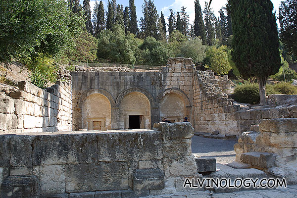 Entrance to a large cluster of Jewish tombs