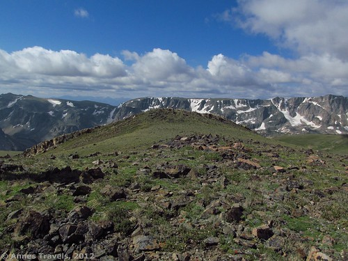One of the views from the hilltop, towards the Beartooth Mountains, Hellroaring Plateau, Custer National Forest, Montana