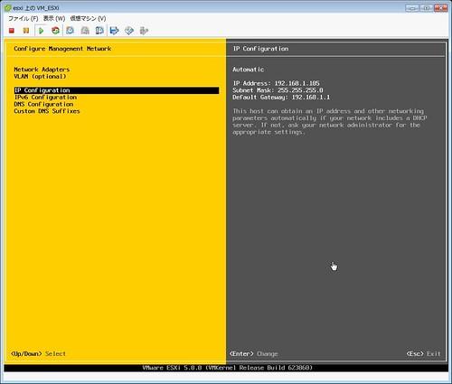 ESXi Installation Screenshot