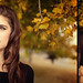 Samantha basking in the Fall Leaves by Zach Sutton Photography | http://ZSuttonPhoto.com