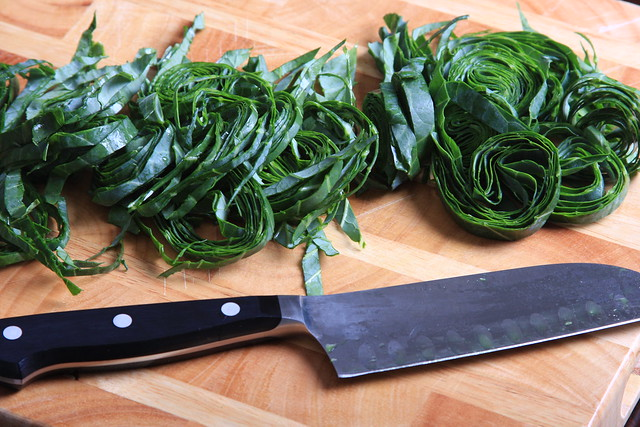 How to Chiffonade Collard Greens