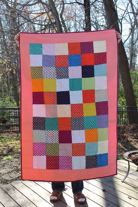 polka dot birthday quilt