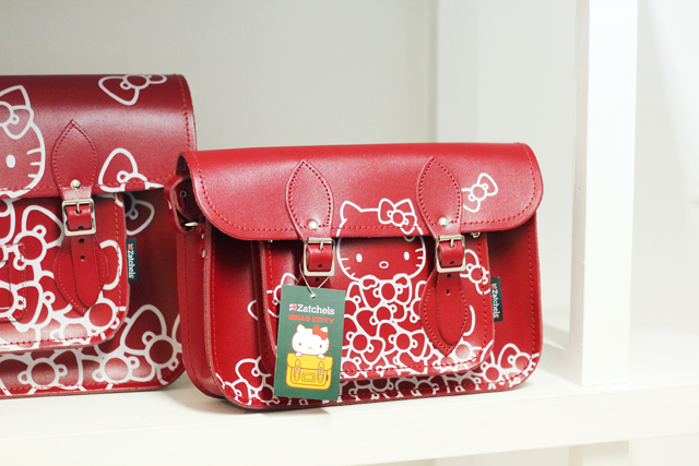 Hello Kitty Zatchels satchel collaboration red