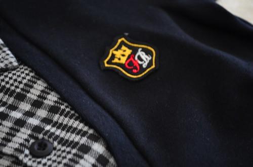 ニッセン 子供服 シャツレイヤード風裏起毛トレーナー