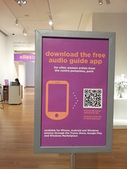 Seattle Art Museum app in galleries