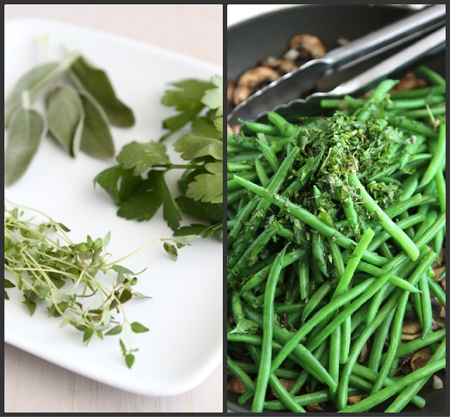 Fresh Green Beans with Bacon, Mushrooms & Herbs Recipe | Flickr ...
