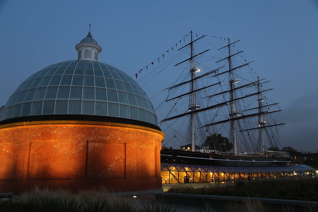 Greenwich Foot Tunnel and Cutty Sark