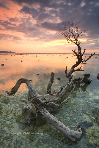 sunset seascape nature beautiful canon indonesia landscape island eos asia south tide low east 5d ang gili lombok randi trawangan