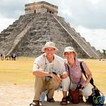 Dan and Audrey at Chichen Itza - Mexico