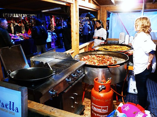 Hot Paella at Glasgow Christmas Market