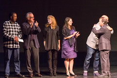 Krista Tippett Stands with Fellow Storytellers at The Moth