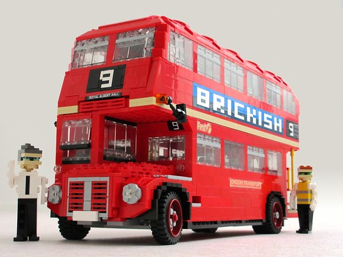 Double-decker London Routemaster bus