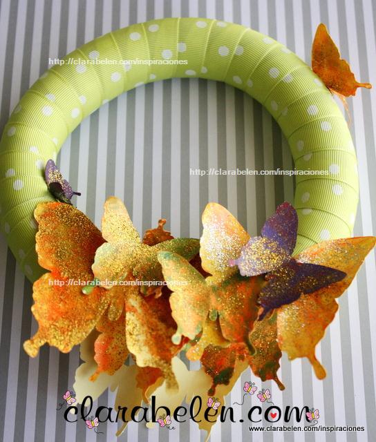 corona de mariposas