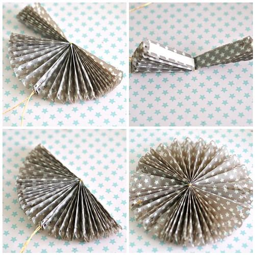 Paper rosettes steps 9-12
