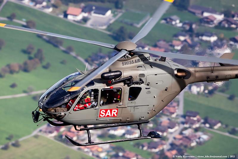 Swiss AF EC-635 T-366 over Bernese Oberland