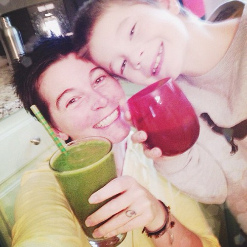Cheers to getting your greens on! #mylifeasworship #unschooling